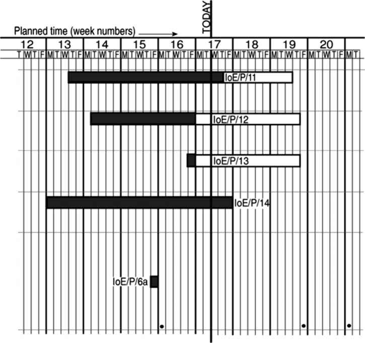 Gantt Chart With Slippage