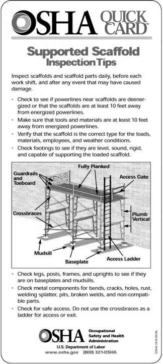 Certified Scaffold Inspection